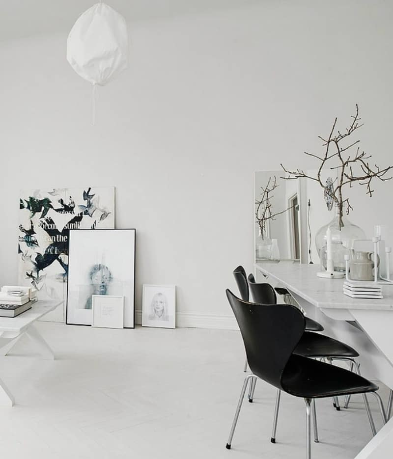 Scandinavian apartment dining room