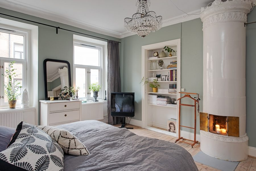 Scandinavian apartment in mint color