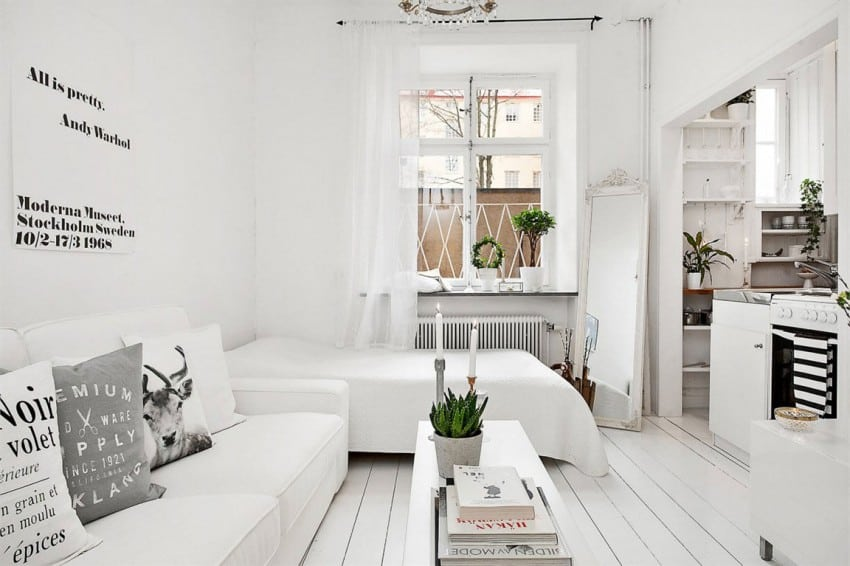 Small Scandinavian apartment design