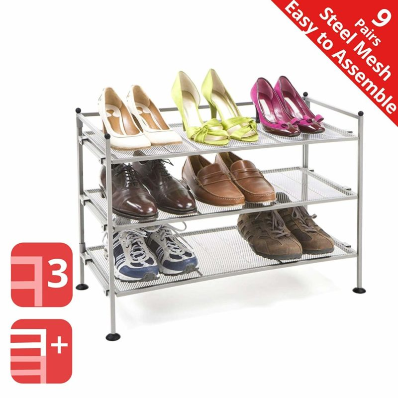 Seville Classics 3-Tiered Shoe Rack